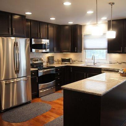 dark chocolate cabinets kitchen dining room pinterest