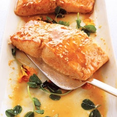 Wasabi Salmon with Miso-Sesame Sauce | KITCHEN! | Pinterest