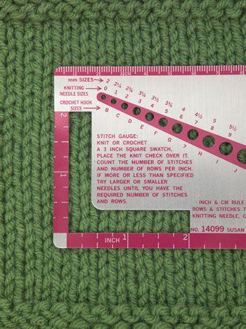 Checking Knit Gauge Crochet & Knitting School Pinterest