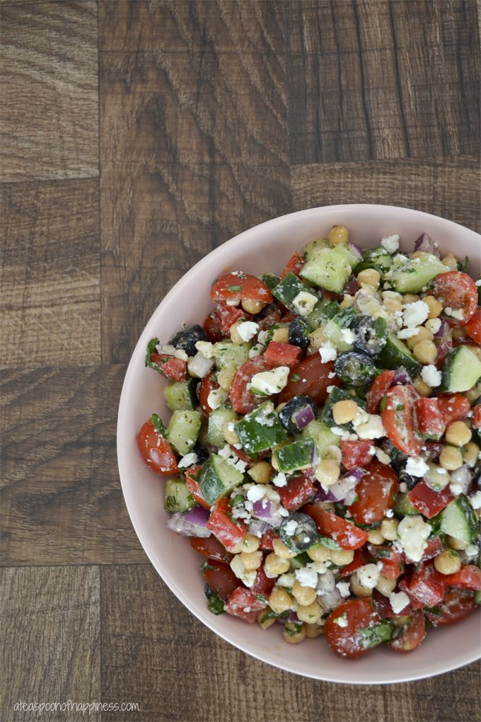 Mediterranean Chickpea Salad - A friend brought this to a Pinterest ...