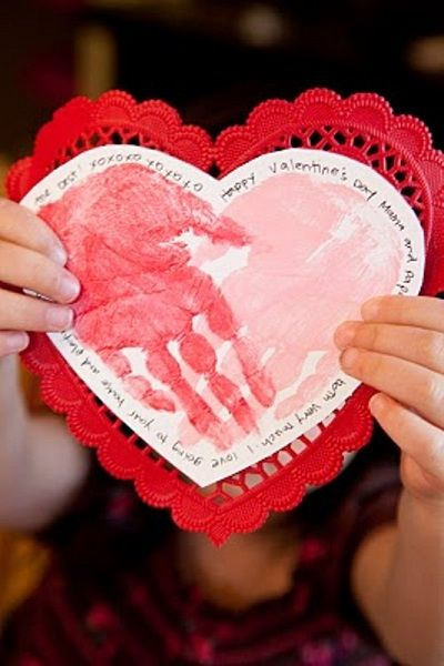 valentine handprint activities