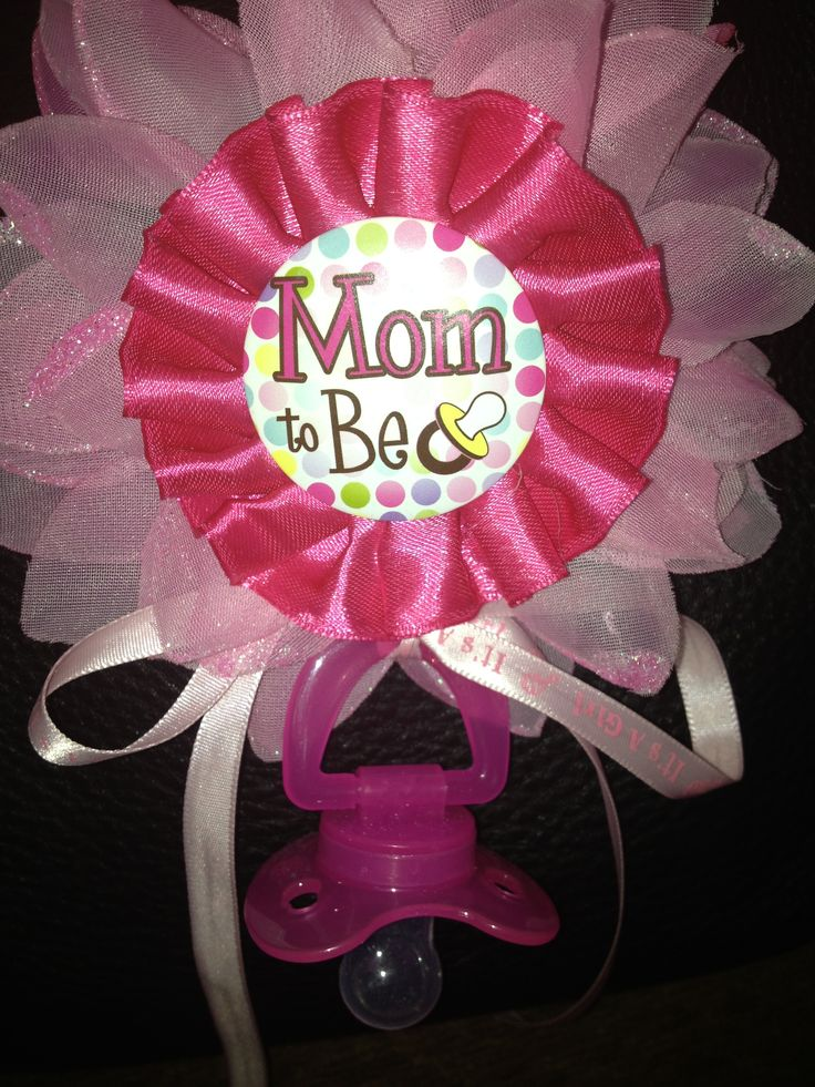 mom to be handmade corsage baby shower pinterest