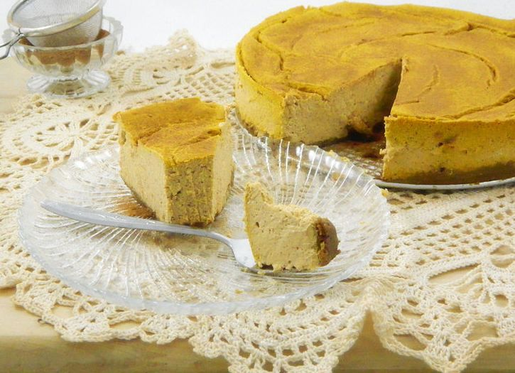 Low sugar Pumpkin Cheesecake! | Pumpkin | Pinterest