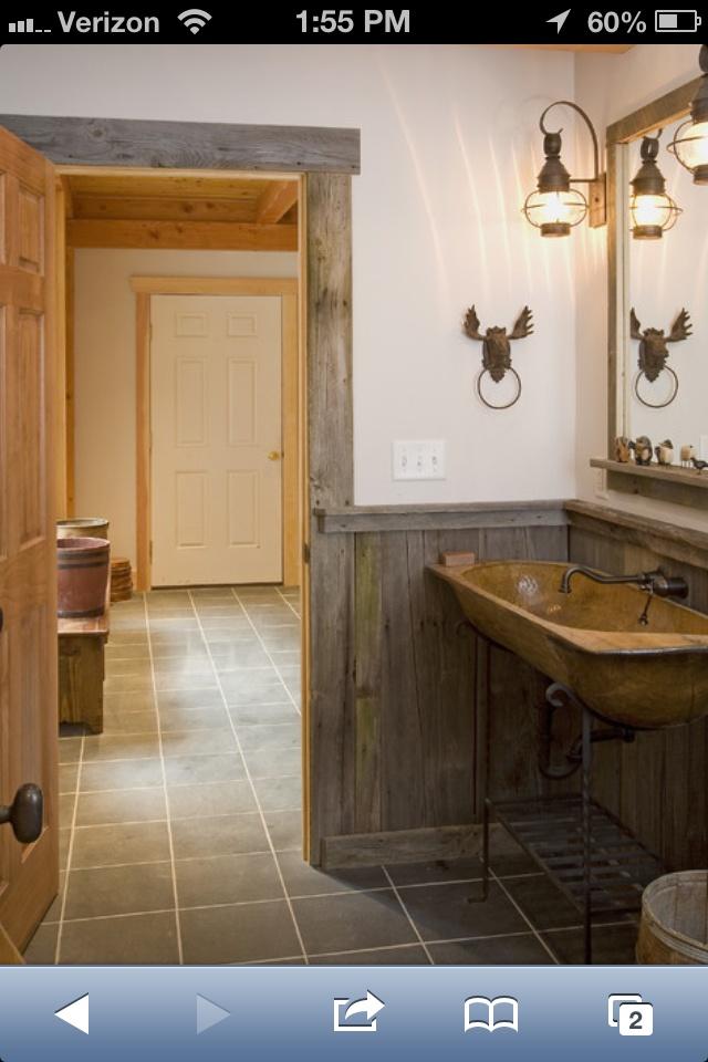barn wood bathroom house designs pinterest