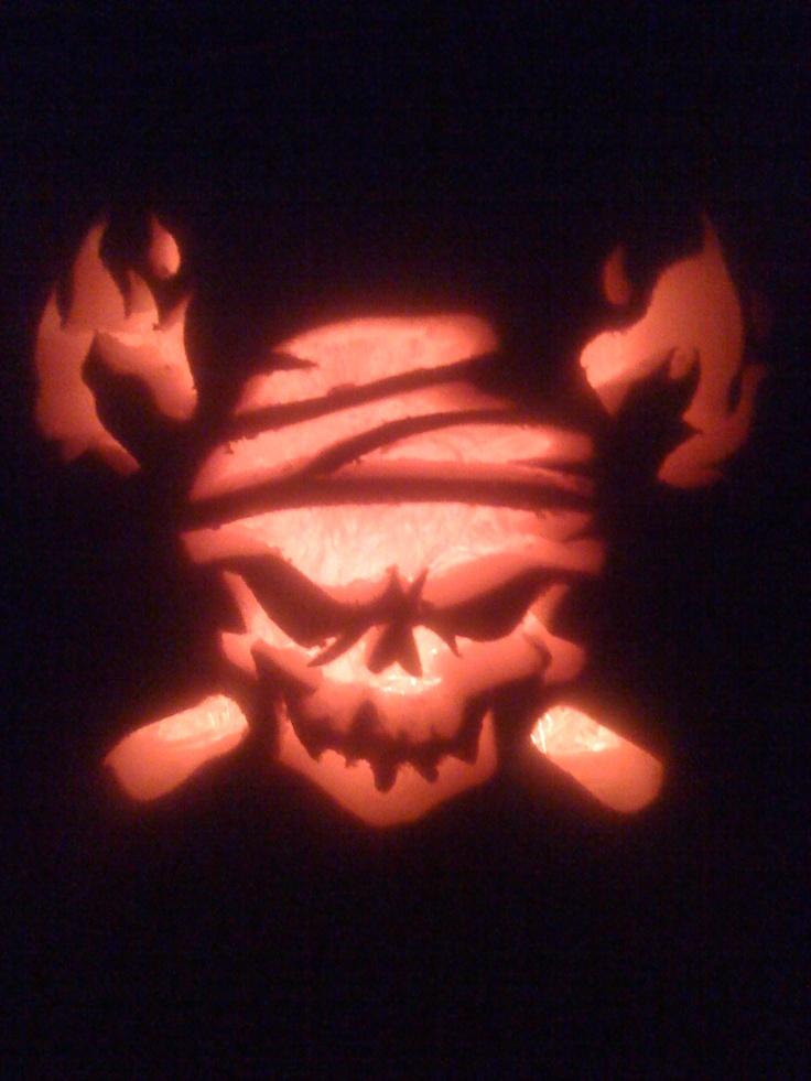 Skull pumpkin carving projects pinterest