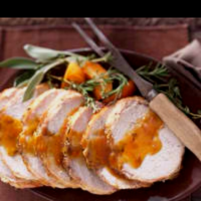 pork loin lemon and prosciutto stuffed pork loin roast with broccolini ...