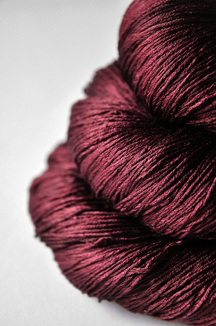 Lace Weight Yarn : Fallen dark soul - Silk Yarn Lace weight
