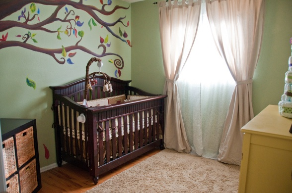 Neutral forest themed nursery whimsical forest nursery for Woods themed nursery