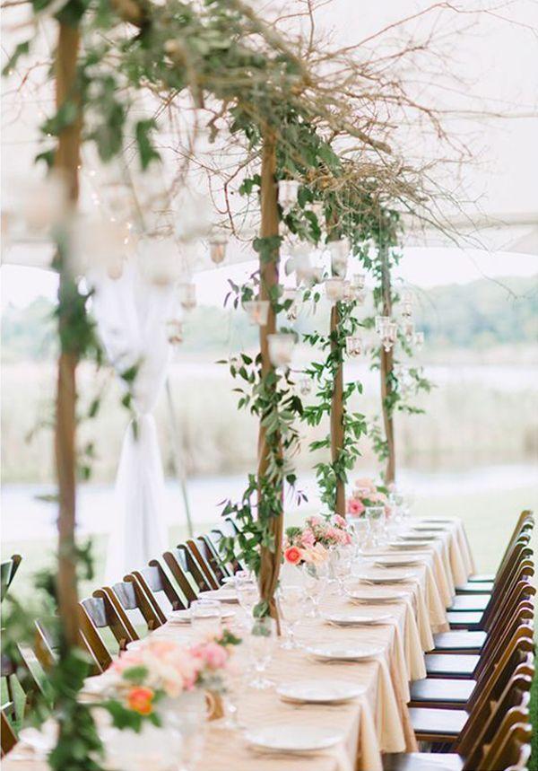 Wedding decor trend for 2014: Choose lush leaves over flowers ...