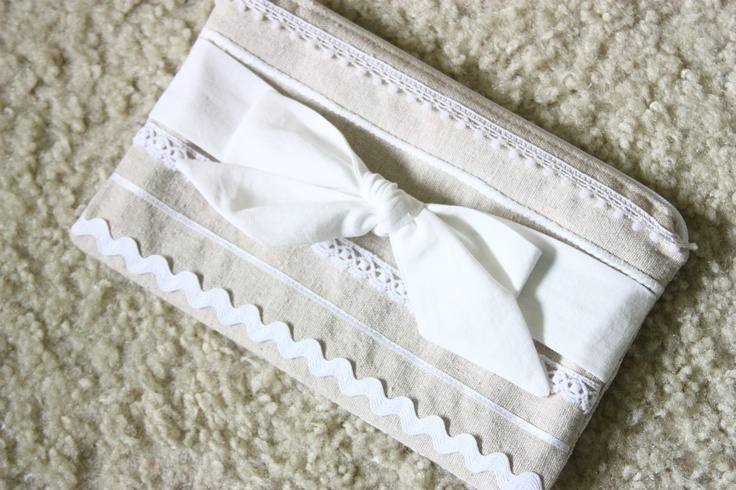 French country zipper pouch