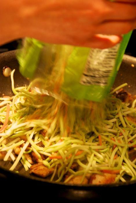 stir-fried shitake and broccoli slaw | Yummy food and drink! | Pinter ...