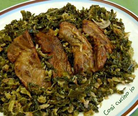 Costicine di maiale con verze (ricetta invernale)
