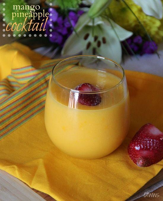 mango pineapple cocktail | Drinks | Pinterest