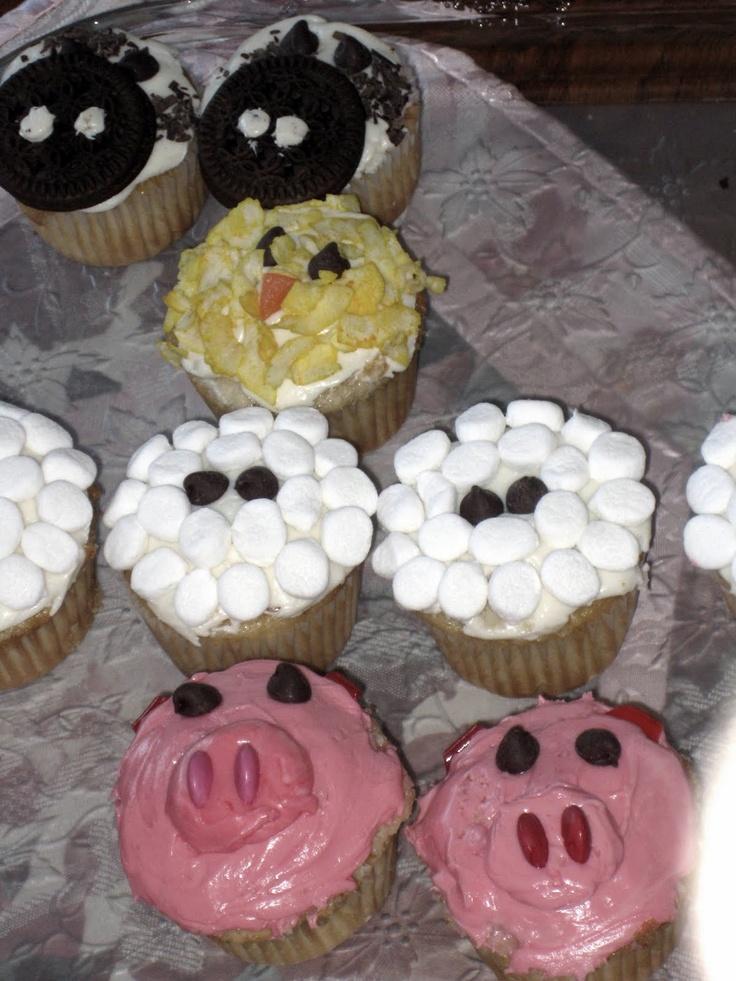 Farm animal cupcakes we re having a party pinterest