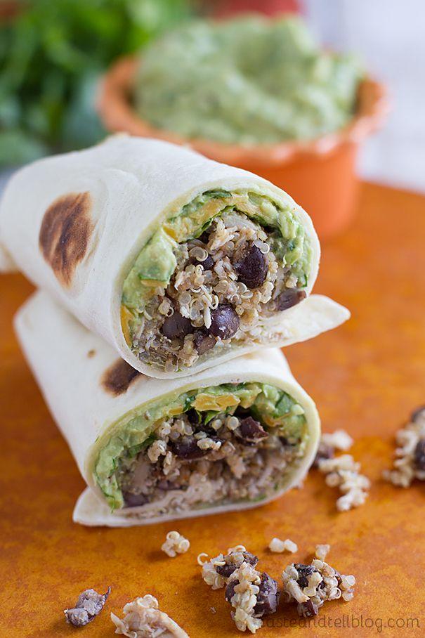 ... Chicken and Black Bean Burritos with Chipotle Guacamole | Reci