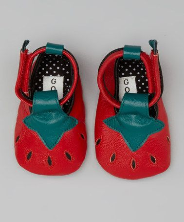 Look what I found on #zulily! Red Strawberry Leather Booties by Goody ...