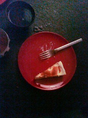 Greek-Yogurt Cheesecake with Pomegranate Molasses. (Christmas Recipe)