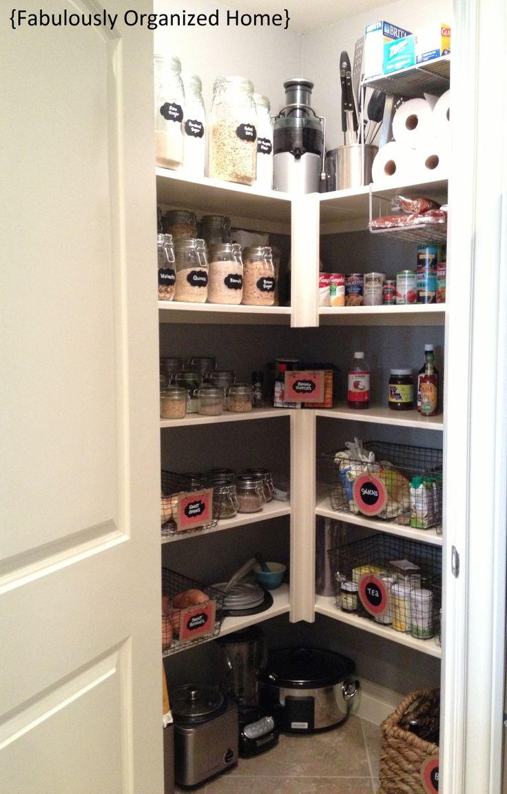 corner pantry organize pinterest. Black Bedroom Furniture Sets. Home Design Ideas