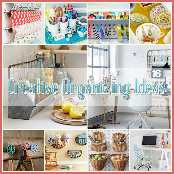 Creative organizing ideas home organize house pinterest for Creative organization