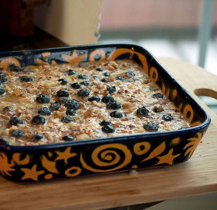 Baked oatmeal w/blueberries and bananas | FooD & DrinK loves | Pinter ...
