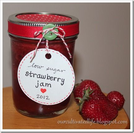Low sugar strawberry jam | Food/Recipes | Pinterest