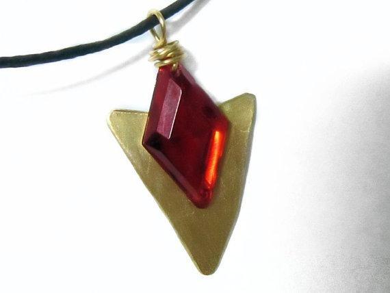 Zelda Necklace Goron's Ruby by $13