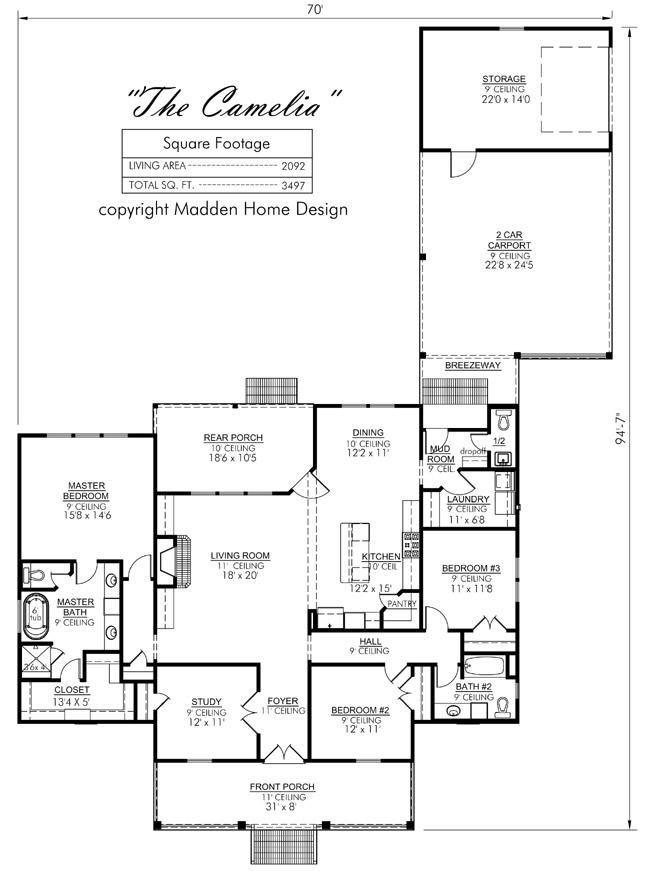Madden home design the livingston house plans pinterest for Madden house plans