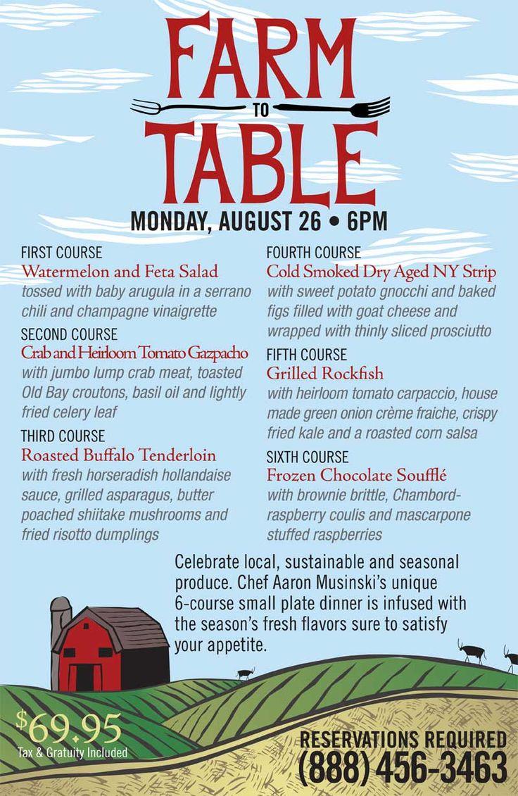 Farm to Table Dinner August 26 2013 S2T dinner