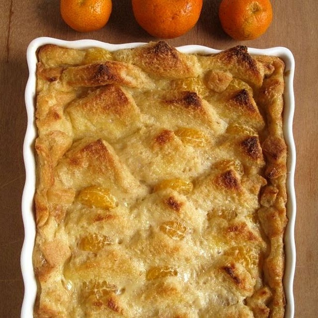 Cinnamon-Tangerine Bread Pudding