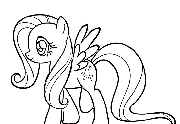 fluttershy coloring page - photo #3