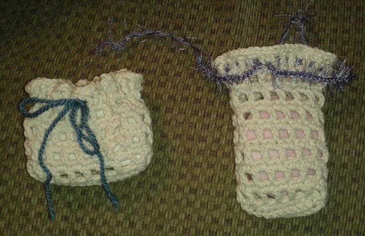 Knitted Soap Holder Pattern : Crochet soap holder & body scrubber free patterns