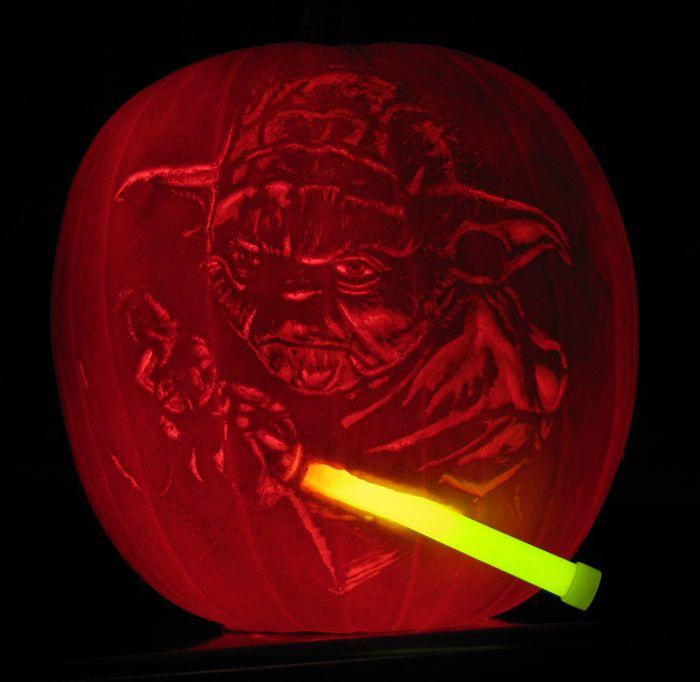 Yoda pumpkin carving my carvings pinterest