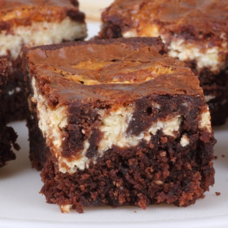 ... cheesecake topping and marble swirl.. Easy Cheesecake Brownies Recipe