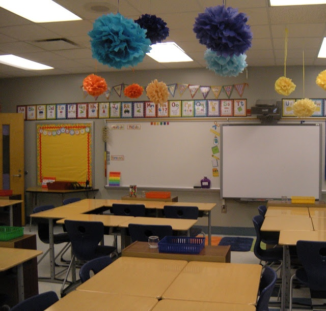 Pin by lauren fleming on classroom other pinterest for Art classroom decoration ideas