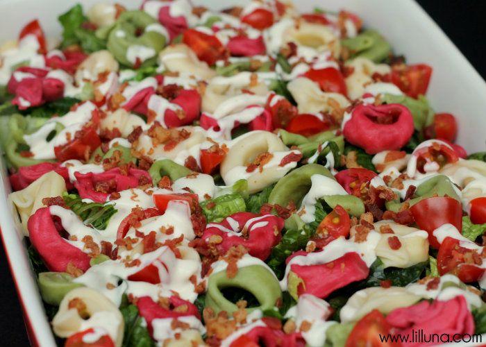 Tortellini Salad { lilluna.com } #salad