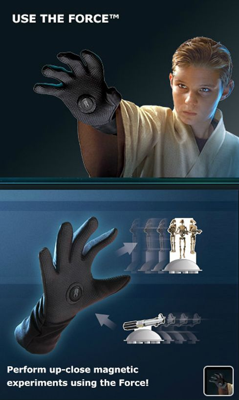 Star wars force glove lets you move objects without touching