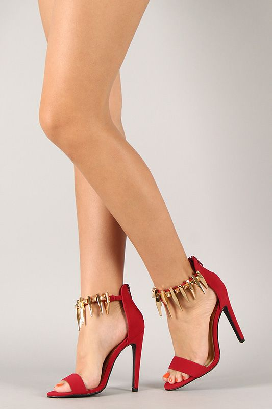 Party all night long with this stunning heel! Featuring open toe
