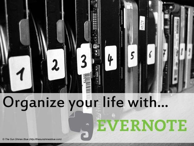 Organizing your life with evernote