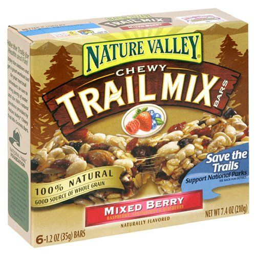 Nature Valley Chewy Trail Mix Bars, Mixed Berry, 6-Count Boxes (Pack ...