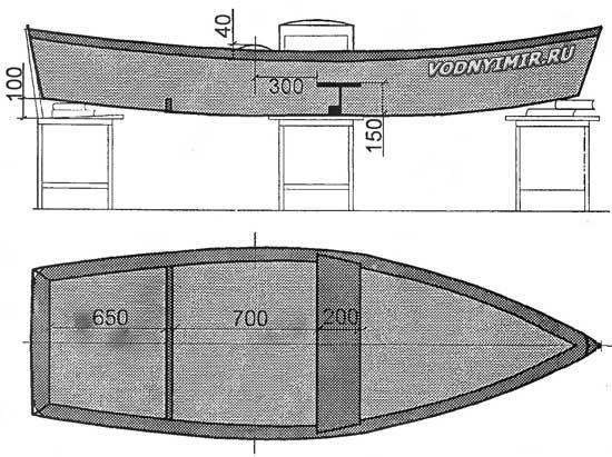 Лодка плоскодонка своими руками чертежи 80