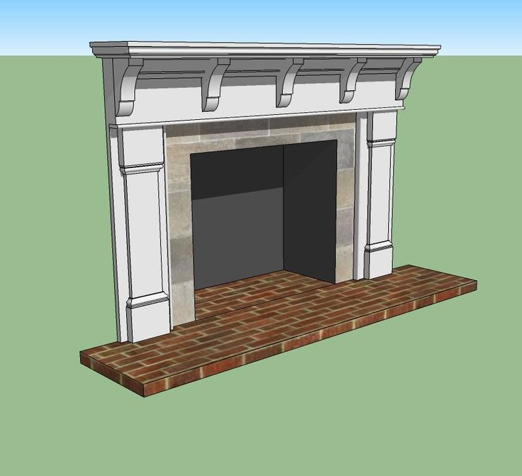 mantel with corbels family room pinterest