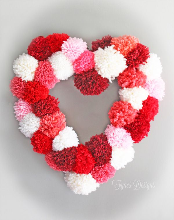 Great tutorial to make a cheap HEART SHAPED WREATH FORM from fynesdesigns.com