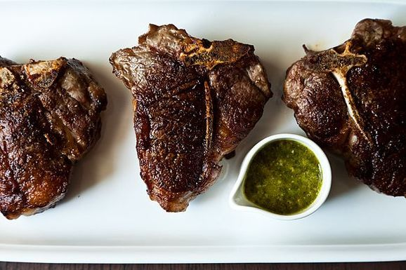 Chimichurri Lamb Chops -try this recipe with the less expensive and ...