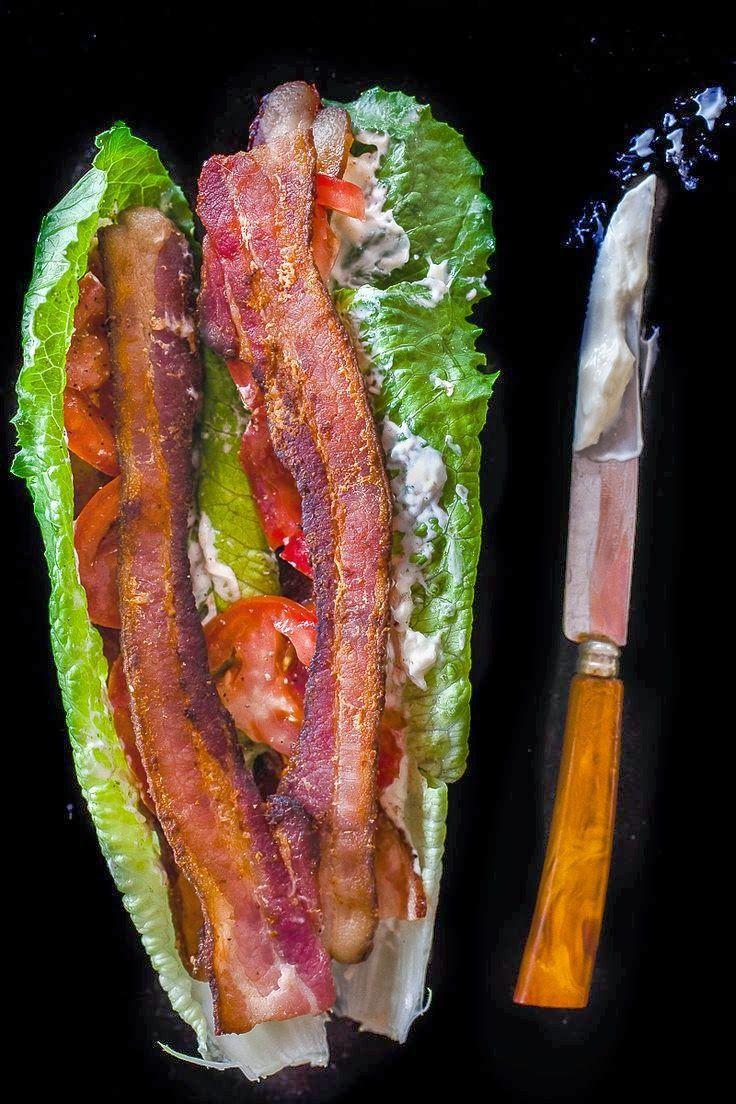 Low Carb BLT Lettuce Wrap | Recipes | Pinterest