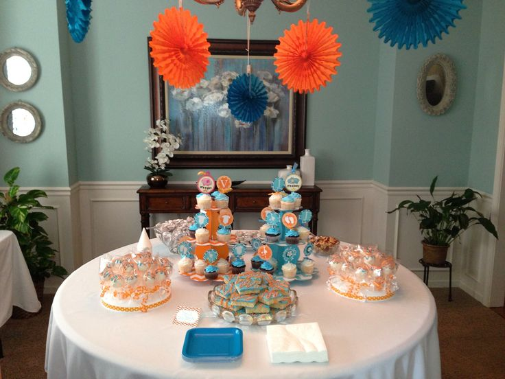 orange and turquoise baby shower e p i pinterest