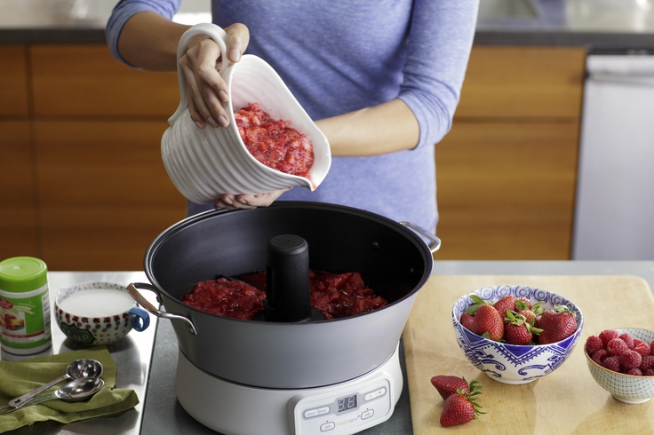 Just add your favorite fruit, some pectin, a little sugar and let our Ball FreshTECH Automatic Jam & Jelly Maker do the work for you.  www.freshpreserving.com