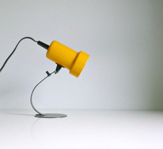 vintage modern table desk lamp back to school yellow black stu. Black Bedroom Furniture Sets. Home Design Ideas