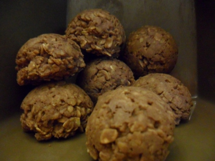 No-Bake Peanut Butter Oat Balls. Tastes like a delicious, almost fudgy ...