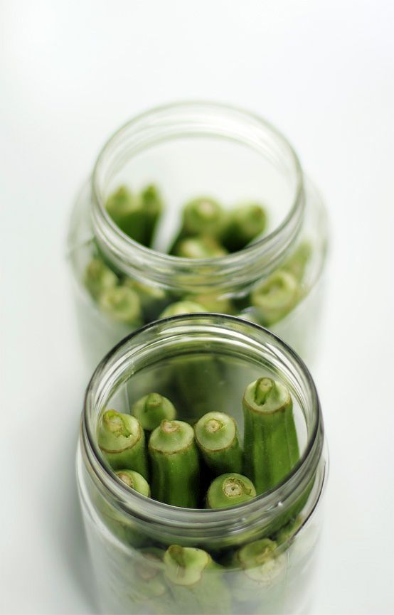 pickled okra. | Recipes | Pinterest