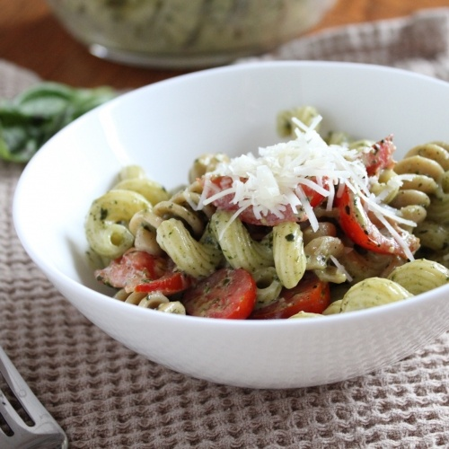 Creamy Pesto Pasta - turned out very well and satisfied my husband's ...